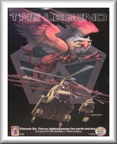 295th Assault Support Helicopter Company (ASHC) D model fielding poster, circa 1988.
