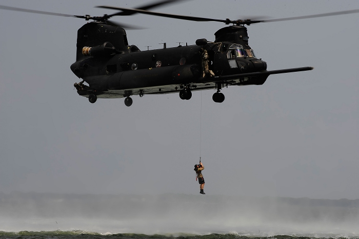 160th Special Operations Aviation Regiment MH-47G Chinook Helicopter Poster