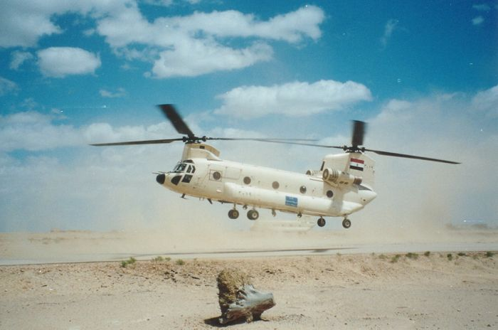 Egyptian CH-47D Chinook, circa 2000.