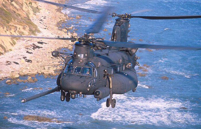 An E Model Chinook patrols the coastal waters.