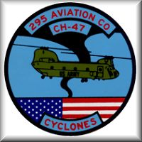 295th Assault Support Helicopter Company (ASHC) aircraft nose decal, circa 1987.