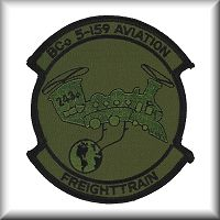 Boeing CH-47 Chinook helicopter - Unit Patches and Decals from