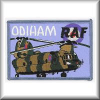A patch designed for the Chinook units from RAF Odiham, located in the United Kingdom.