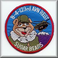 "B Company - ""Sugar Bears North"" unit patch."